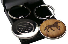 HORSE Wooden Keyring Personalised Custom Engraved EQUESTRIAN GIFTS Pony Rider