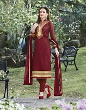 Maroon Georgette Brasso Embroidered Dress Material (Muskan-53)