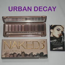 Genuine URBAN DECAY Naked3 Eyeshadow Palette &  Brush & Primer Potion Sample NEW