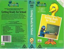 SESAME STREET GETTING READY FOR SCHOOLTIME VHS VIDEO PAL~ A RARE FIND
