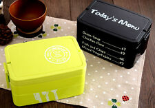 Plastic Bento Box Lunch Box Picnic School Lunchbox Food Container Portable