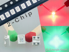 100x SMD SIGNAL LED PLCC4 3528 2-chip ROT GRÜN red green rouge vert rood groen
