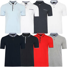 New Mens Classic Cotton Polo Shirt Contrast Collar Short Sleeved Tops Size S-XXL
