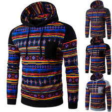 Felpa Uomo con Cappuccio Maglia Abstract Colorful Men Hoodie Sweatshirt hd151