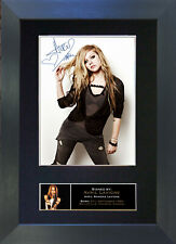 AVRIL LAVIGNE Signed Mounted Autograph Photo Prints A4 219