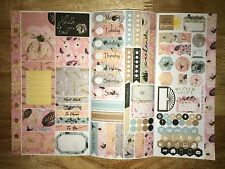 Hello Autumn Personal Planner Stickers Tri Fold Kit SewMuchCrafting Vertical