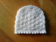 Handmade Crocheted Unisex Baby Hat 100% Acrylic various colours & sizes