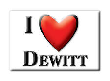 SOUVENIR USA - ILLINOIS FRIDGE MAGNET AMERICA I LOVE DEWITT (DEWITT COUNTY)