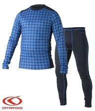 Catmandoo Men's Thermal Base Layer Underwear Set - Running Cycling Fitness