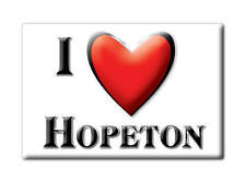 SOUVENIR USA - OKLAHOMA FRIDGE MAGNET AMERICA I LOVE HOPETON (WOODS COUNTY)