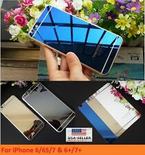 Mirror Front and Back Tempered Glass Screen Protector iPhone For 6 7 8 X Plus US