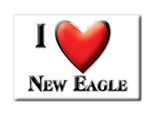 SOUVENIR USA - PENNSYLVANIA FRIDGE MAGNET I LOVE NEW EAGLE (WASHINGTON COUNTY)