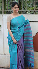 Indo Mood | Exclusive Hand Woven Cotton Muslin Khesha Saree