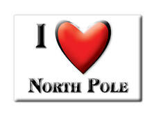 SOUVENIR USA - ALASKA MAGNET I LOVE NORTH POLE (FAIRBANKS NORTH STAR COUNTY)