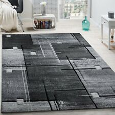Large Living Room Rug Trendy Stylish Modern Carpet Hall Runner Bedroom Mat Grey