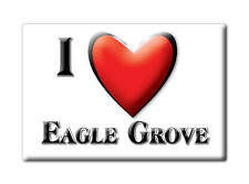 SOUVENIR USA - IOWA FRIDGE MAGNET AMERICA I LOVE EAGLE GROVE (WRIGHT COUNTY)