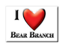 SOUVENIR USA - KENTUCKY FRIDGE MAGNET I LOVE BEAR BRANCH (LESLIE COUNTY)