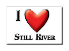 SOUVENIR USA - MASSACHUSETTS MAGNET I LOVE STILL RIVER (WORCESTER COUNTY)