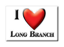 SOUVENIR USA - NEW JERSEY FRIDGE MAGNET I LOVE LONG BRANCH (MONMOUTH COUNTY)