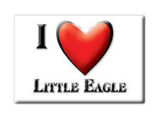 SOUVENIR USA - SOUTH DAKOTA FRIDGE MAGNET I LOVE LITTLE EAGLE (CORSON COUNTY)