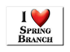 SOUVENIR USA - TEXAS FRIDGE MAGNET AMERICA I LOVE SPRING BRANCH (COMAL COUNTY)
