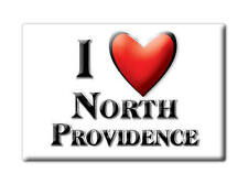 SOUVENIR USA - RHODE ISLAND MAGNET I LOVE NORTH PROVIDENCE (PROVIDENCE COUNTY)