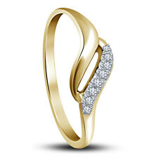 Riva Jewels 14k Gold Over 925 Silver Round Cut CZ Lovely Promise Ring