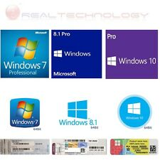 LICENZA WINDOWS 7-8.1-10 PROFESSIONAL 64 BIT DVD PRODUCT KEY FULL MICROSOFT
