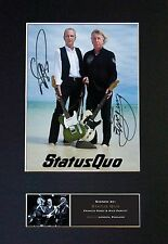 STATUS QUO Signed Mounted Autograph Photo Prints A4 456