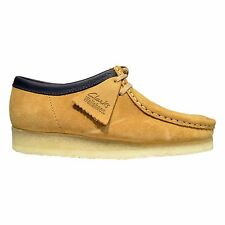 Clarks Originals Wallabee Men's Suede Moc Toe Two-Eye Low Top Shoes Camel