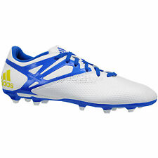 New Adidas Messi 15.3 FG/AG Mens Soccer Cleats - White / Blue