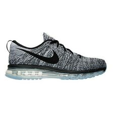 Men's Nike Flyknit Air Max Running Shoes Black White Many Sizes #792 Brand