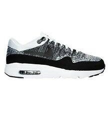 Men's Nike Air Max 1 Ultra Flyknit Running Shoes White Black Many Sizes #78