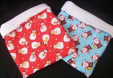 CHRISTMAS GUINEA PIG BED FLEECE SNUGGLE POUCH,CUDDLE CUP SACK SLEEPING BAG LARGE