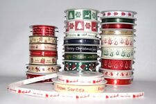 Merry Christmas Ribbon Beautiful Winter Theme Gift Present Wrapping Ribbons