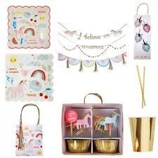 Rainbow and Unicorn Girls Birthday Party Range, Party Tableware / Party Bundle