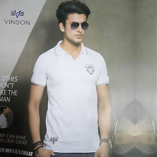 Mens Semi-Formal TShirt, Collar Neck, HalfSleeves TShirt ( SKU-JC93274)