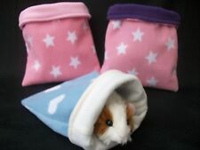 GUINEA PIG BED RAT,DEGU FLEECE SNUGGLE POUCH,CUDDLE CUP SACK SLEEPING BAG LARGE