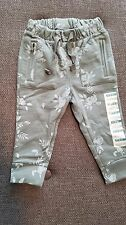 New Girls Old Navy Gray-Blue Floral Jogger Sweat Pants 12-18 M 18-24 M 3t 4t
