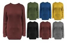 New Ladies Womens Oversized Baggy Knitted Jumper Chunky Sweater Plus Size 8 - 16
