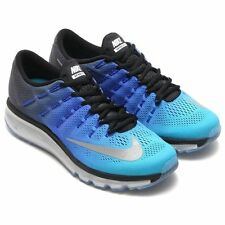 NEW Nike Air Max 2016 Premium Men's Running Shoes 810885 004 BLACK/SILVER/B