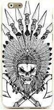 Skull Animal Aztec Pattern Print Hard Phone Case Cover For Android & Smartphones