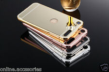 Aluminum Metal Bumper + Pc Mirror Back Cover For Apple IPOD Touch 6 (6th Gen.)