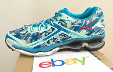 Womens Mizuno Wave Creation 15 BLUE CAMO Size 9 teal neutral 16 new 410568 8W6P