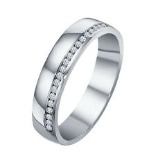 Glorious Band Ring For Women's Over White Platinum Plated 925 Silver White RD CZ