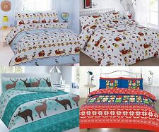 XMAS CHRISTMAS FESTIVE SPECIAL DUVET QUILT COVER SETS WITH PILLOW CASES BEDDING