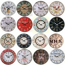 Large Vintage Wall Clocks Shabby Chic Rustic Retro Antique Style Home Kitchen