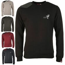 Missing Peace Milo Sweat col rond Tricot Homme Raglan Manches Longues Col Rond