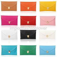 Women's Girls Stylish Envelope Clutch Bag Purse with Chain (Colours Available)