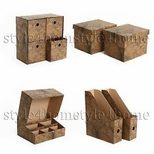 BEAUTIFUL Decorative DRAWER Storage BOXES Home ORGANISER GIFT Box Case OLD MAP